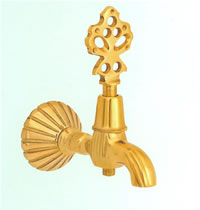 Кран для турецкой бани золотой