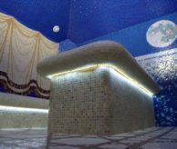 Панно из мозаики в турецкой бане