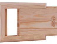 Светлая квадратная заглушка для вентиляции в сауне