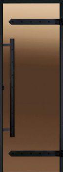 Стеклянная дверь для сауны или бани Harvia Legend Bronze