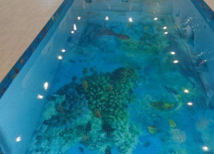 Бассейн с мозаикой в частном доме, г. Верхняя Тура